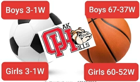 OHHS taking care of business in the CIF playoffs! Boys soccer beats FOHI 3-1, boys basketball beats San Bernardino 67-37, girls soccer beats Moorpark 3-1, & girls basketball beats Rancho Cucamonga 60-52. Success across the board! Congrats & good luck to our wrestlers tomorrow!