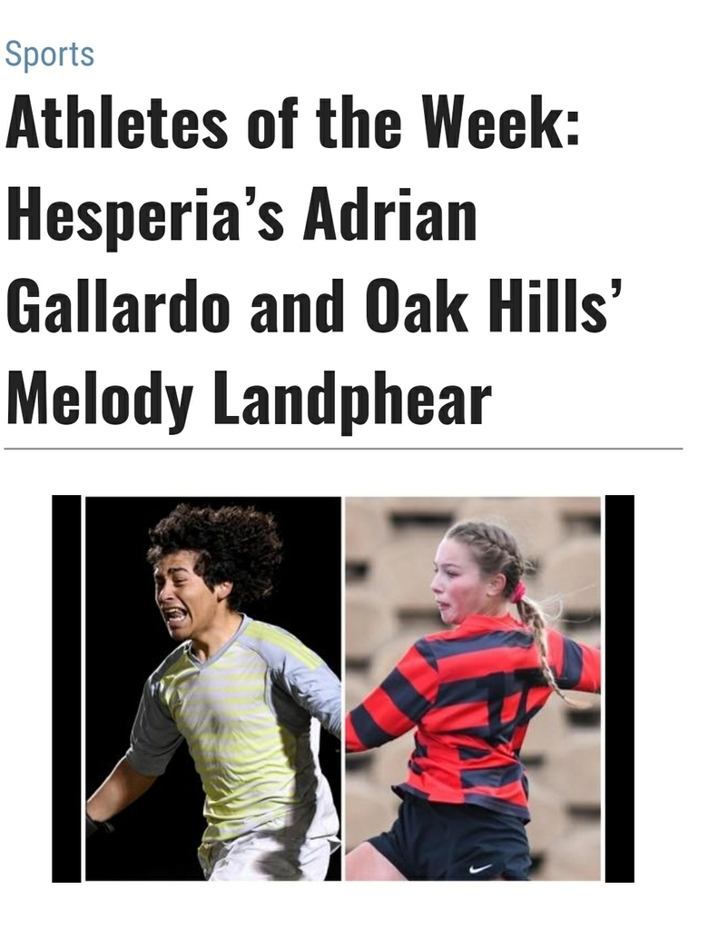 Melo coming up big in the Division 2 playoffs with the support of her teammates! Congratulations on being recognized as the Daily Press Player of the Week!   https://www.vvdailypress.com/sports/20200225/athletes-of-week-hesperias-adrian-gallardo-and-oak-hills-melody-landphear