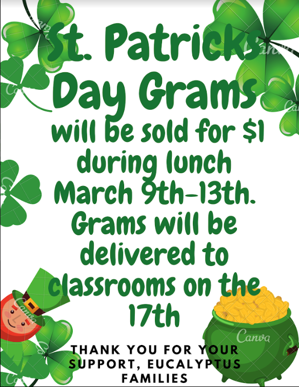 St Patricks Day Grams Flyer (English)