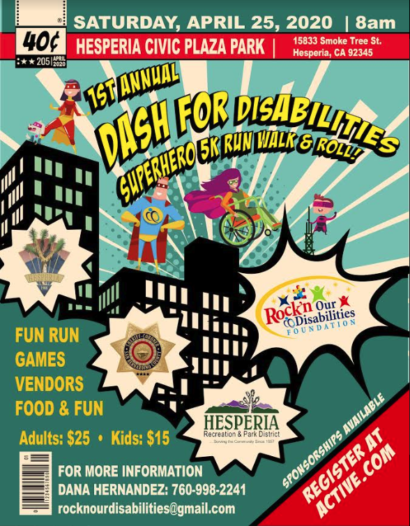 Dash for disAbilities 5K Flyer