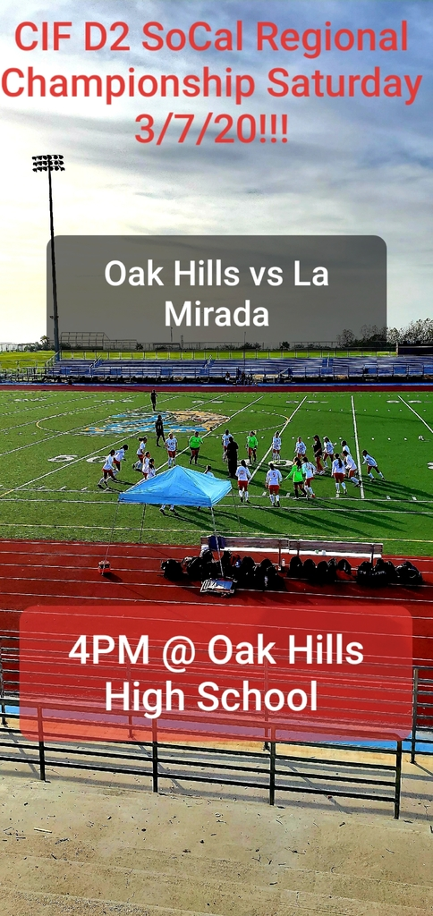 Less than 24 hours out! Lady Bulldogs looking to capture another CIF Title! Come out to the only show in town tomorrow 4pm at Oak Hills High School to support your team in the CIF Division 2 Regional Championship!