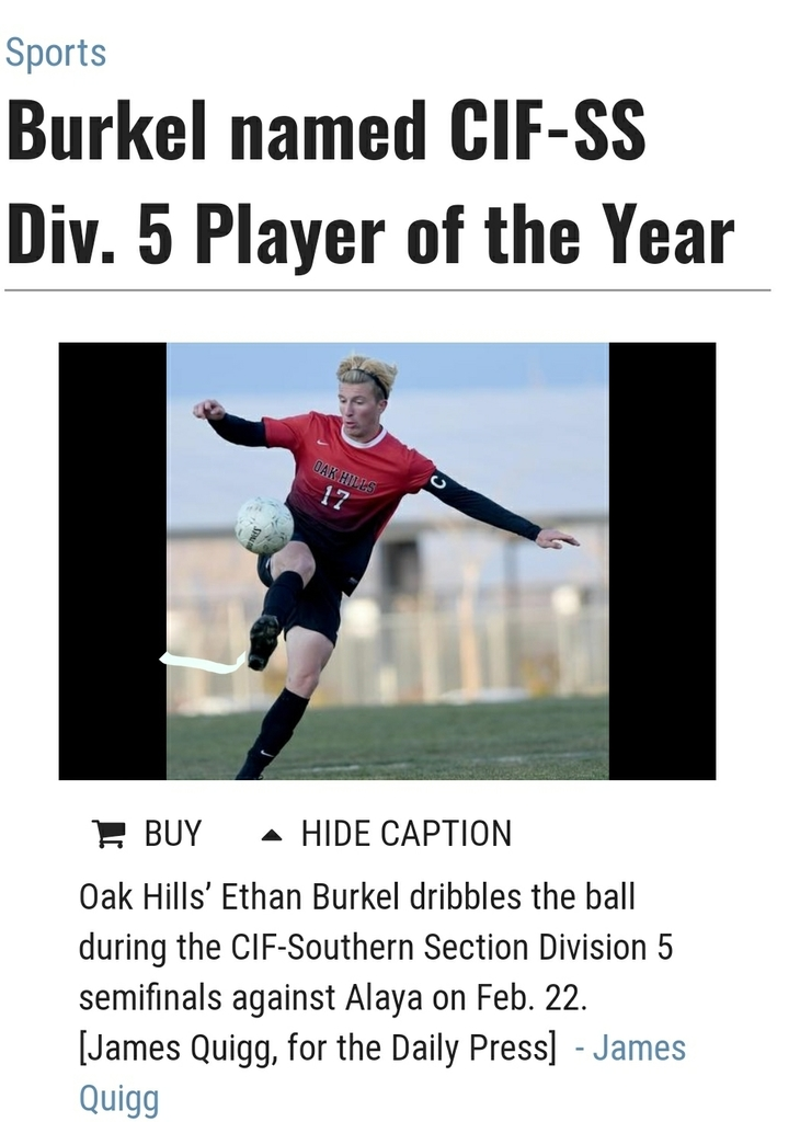 Some good news during a difficult time for us all. Congratulations Ethan Burkle and thank you for your leadership! What an honor to receive such an accolade. Representing the Bulldogs Soccer Family very well!