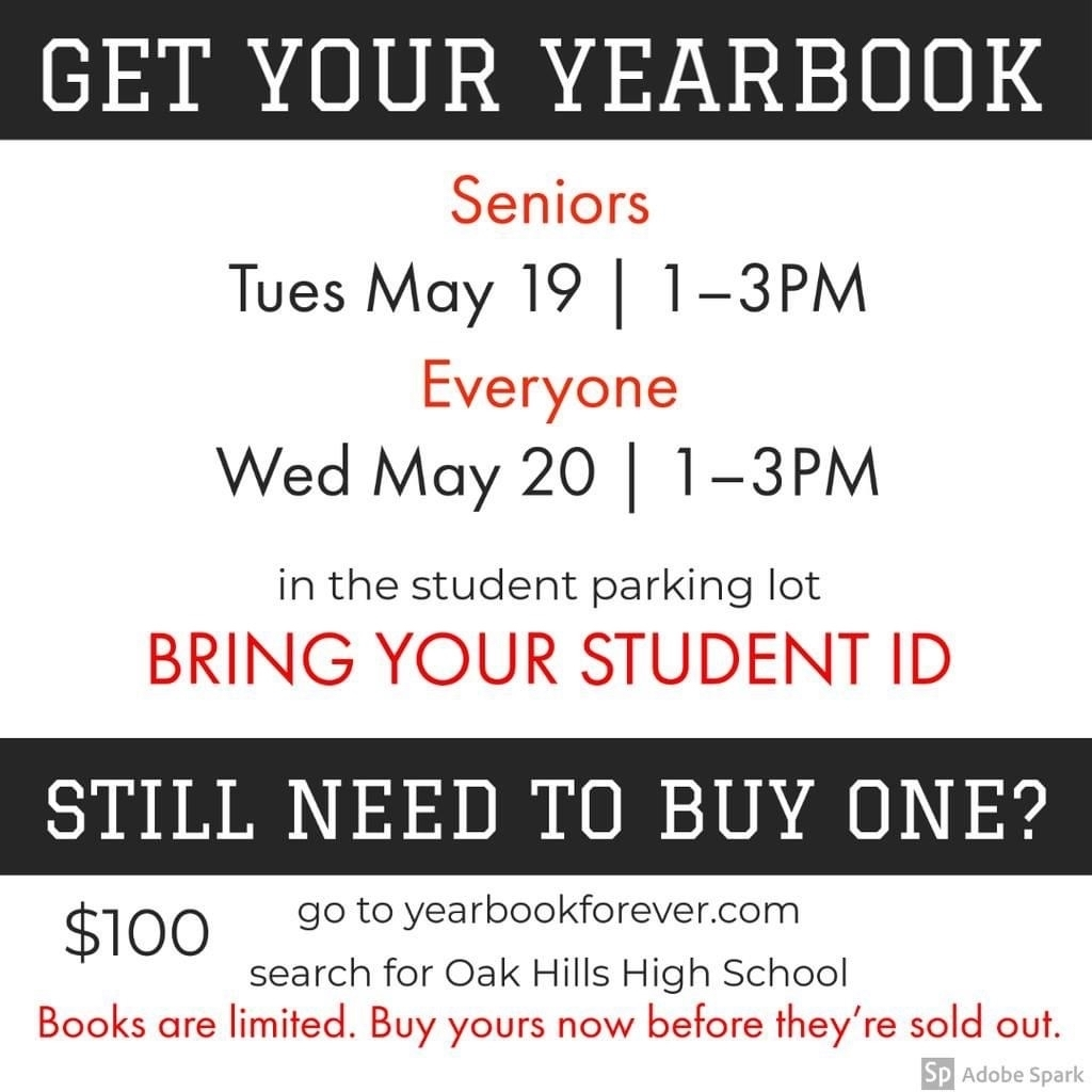 Yearbook distribution information