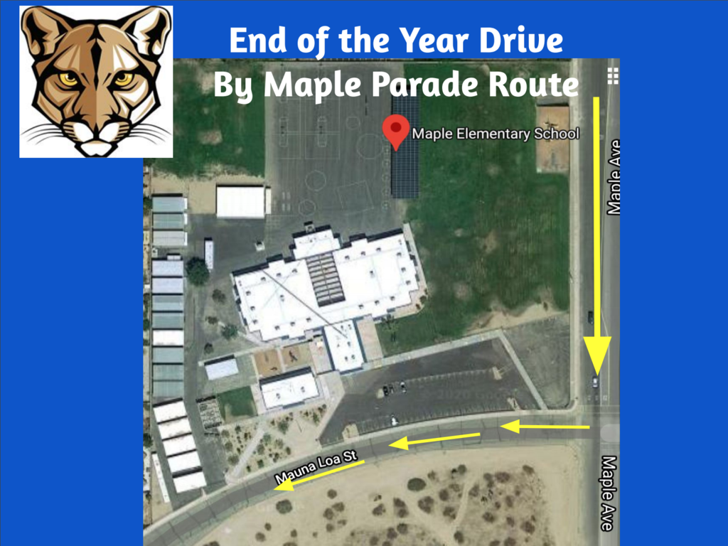 Drive by Maple Parade route