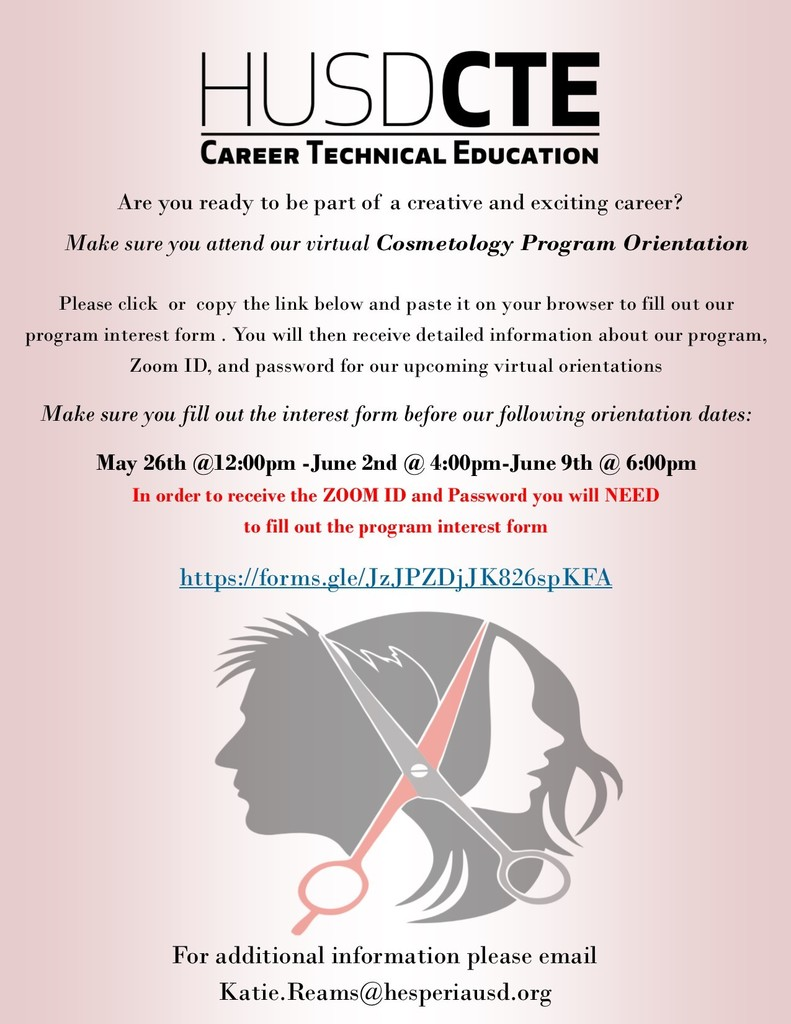 Cosmetology Orientation Flyer