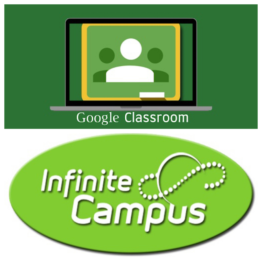 Google classroom and infinite campus