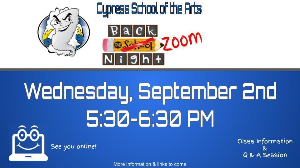 Back to School/Back to Zoom Night