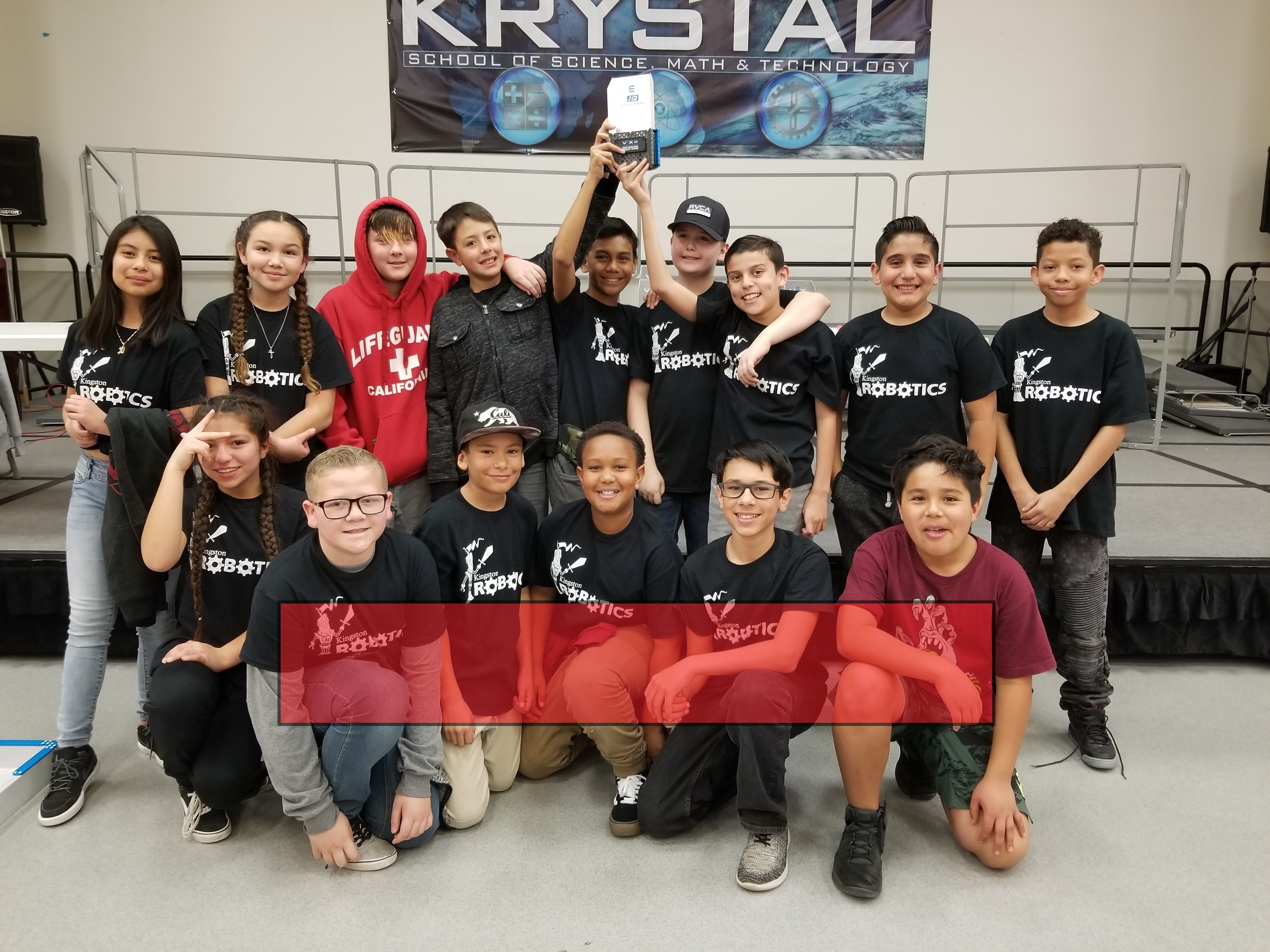 Kingston Robotics Holding Trophy