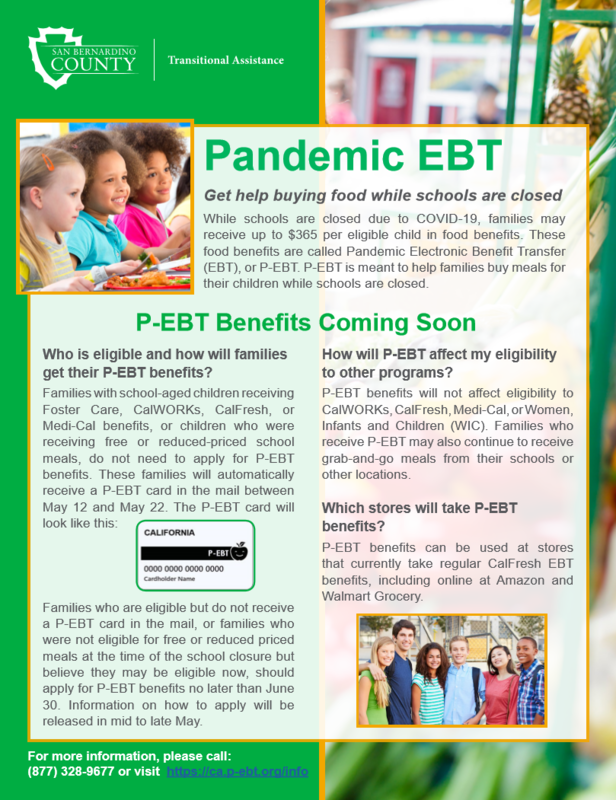Pandemic EBT Info Flyer English