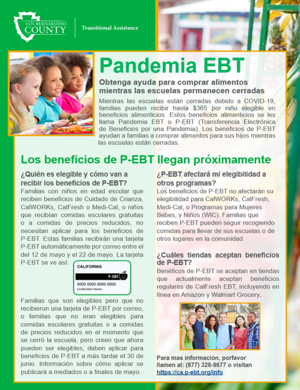 Pandemic EBT Flyer Spanish