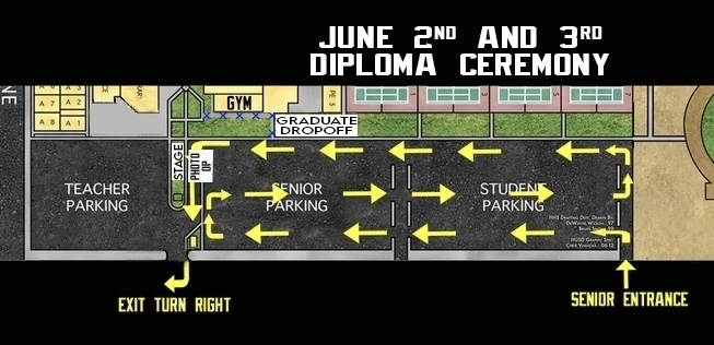 Drive thru diploma ceremony directions