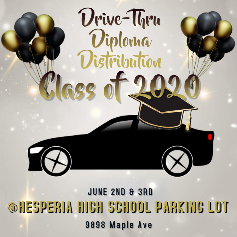Drive thru diploma ceremony banner