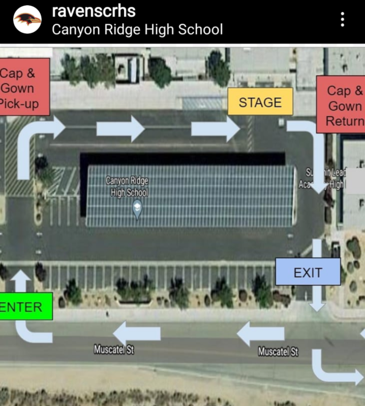 Map for Drive Thru Diploma Ceremony