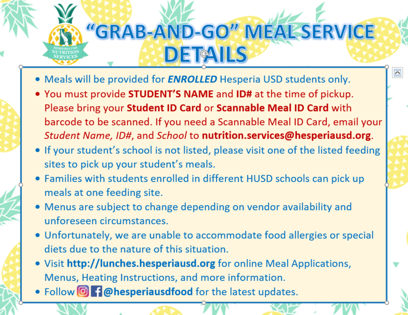 Grab and Go Student Lunches Info