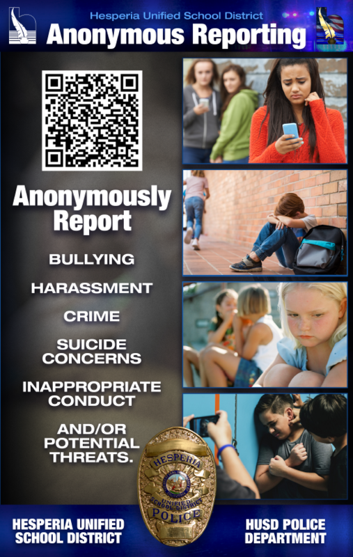 Anonymous Reporting Flier