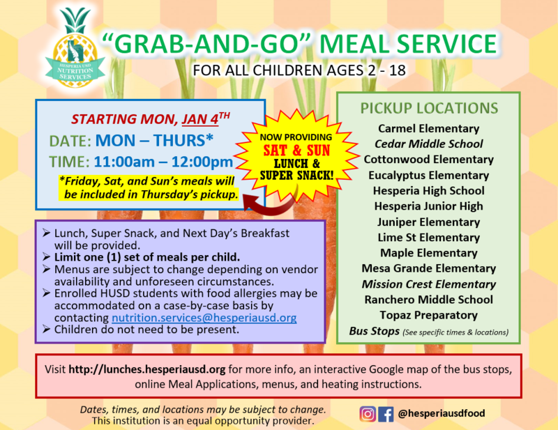 Grab-and-go flyer English