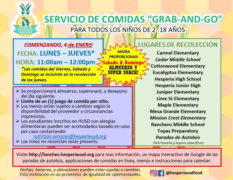 grab-and-go flyer spanish